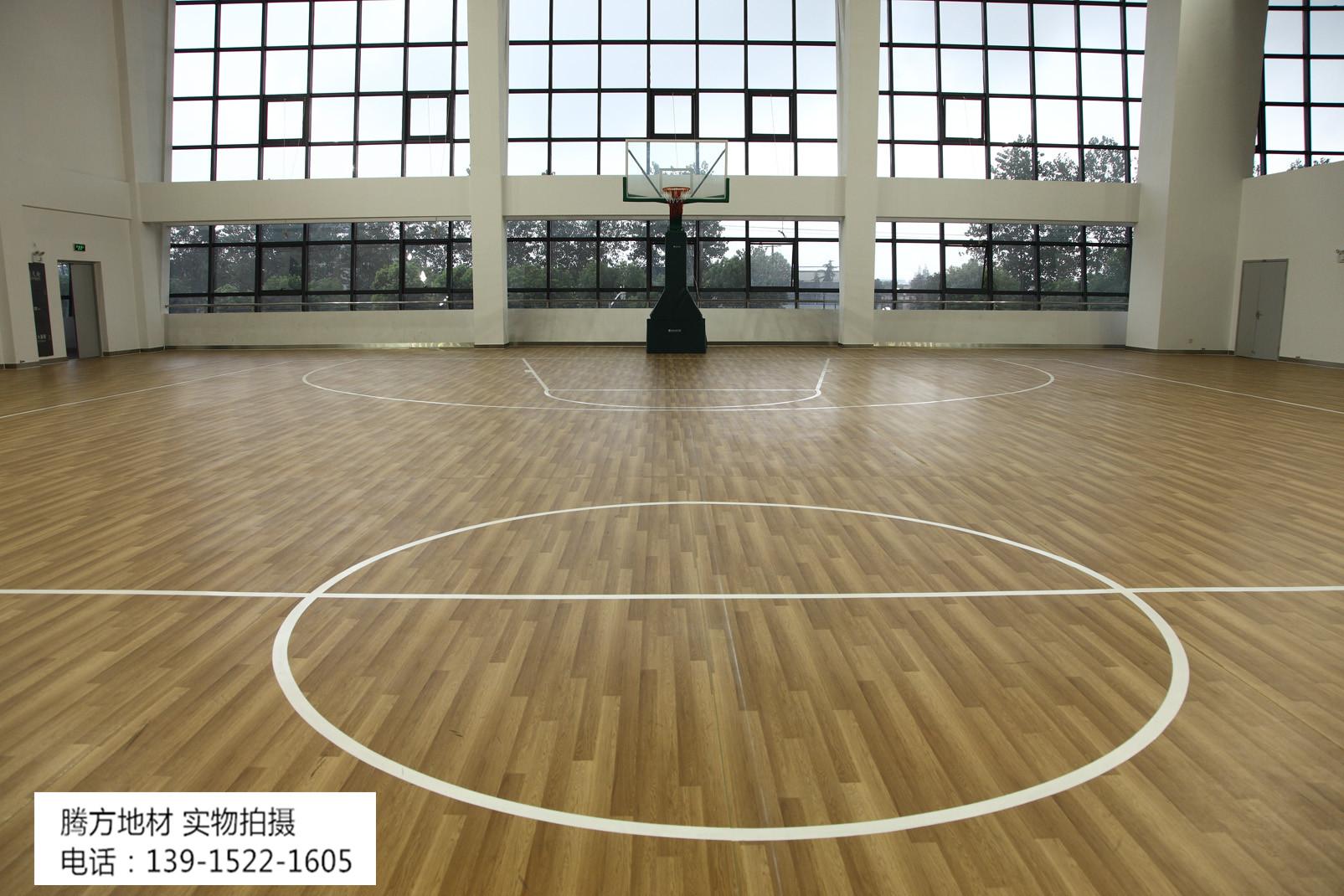 腾方室内篮球场专用pvc地板圆您的篮球明星梦想