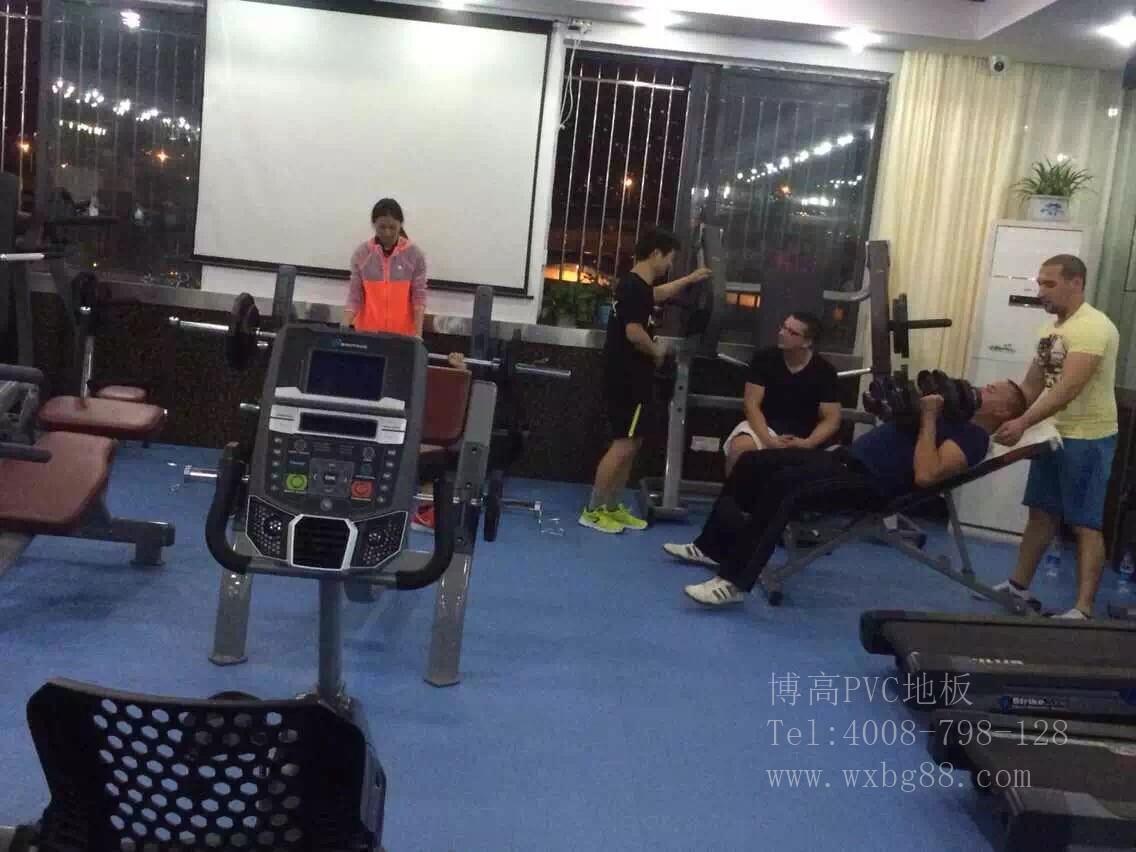 【昆山】i Muscle健身房PVC运动地胶