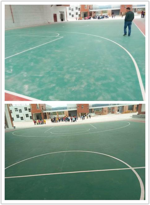 【江西】赣州宁都中学篮球场地胶