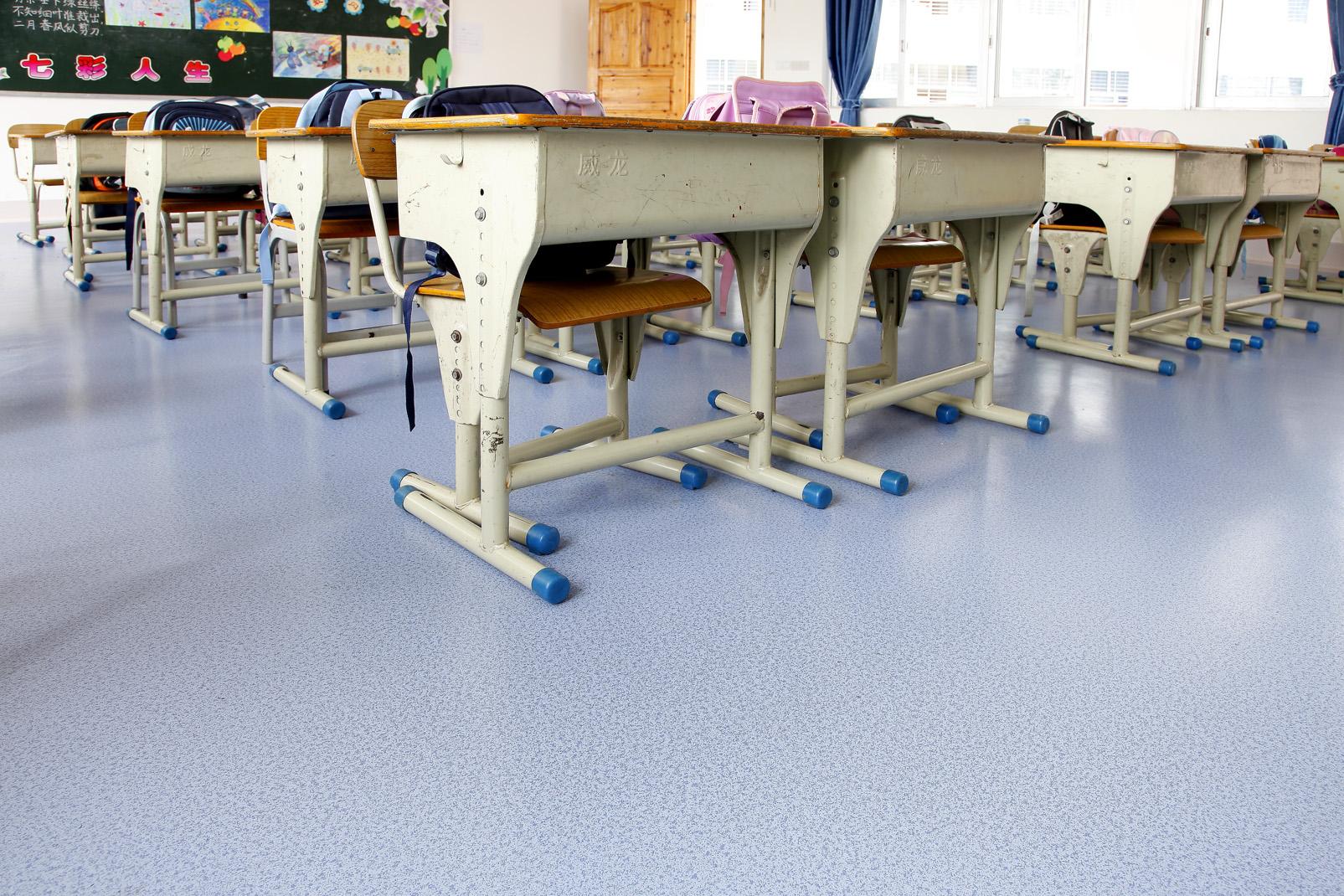 学校PVC塑胶地板的优点【腾方PVC地板】