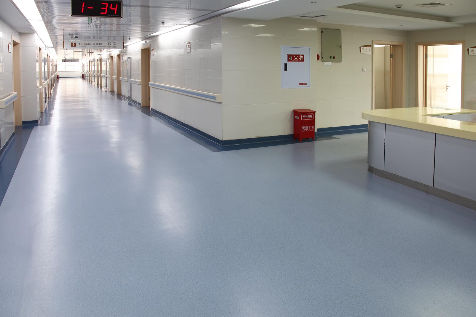 为什么医院选择医院用pvc塑胶地板【腾方PVC地板】