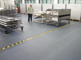工厂车间PVC地板工程解决方案
